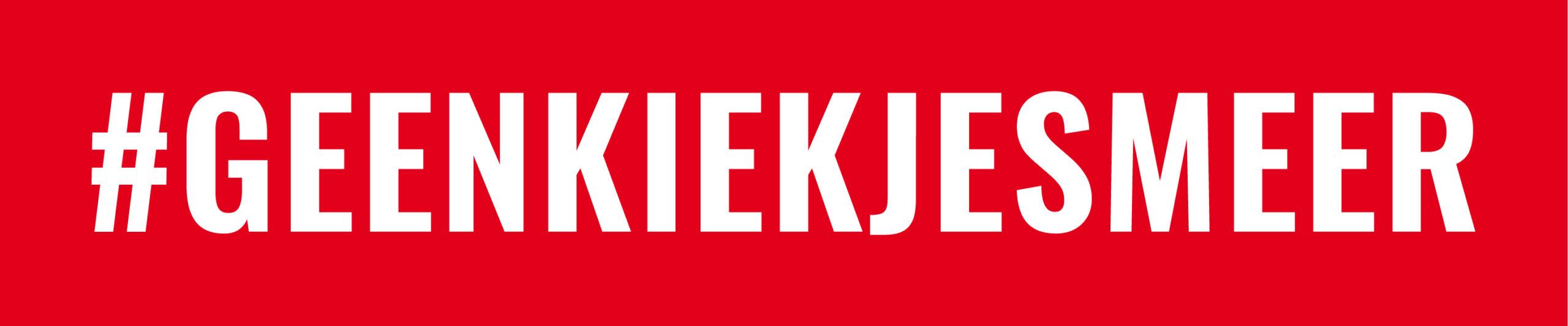 logo #geenkiekjesmeer
