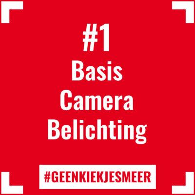 Tegeltje met de tekst #1 Basis Camera Belichting