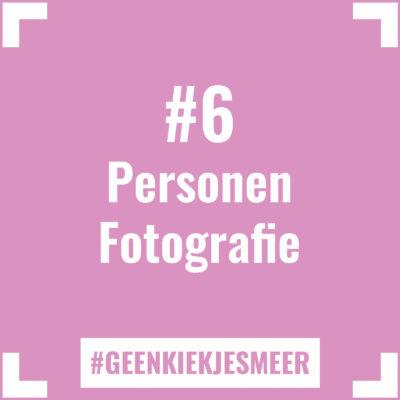 Tegeltje met de tekst #6 Personen Fotografie