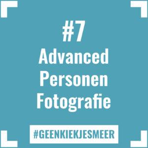 Tegeltje met de tekst #7 Advanced Personen Fotografie