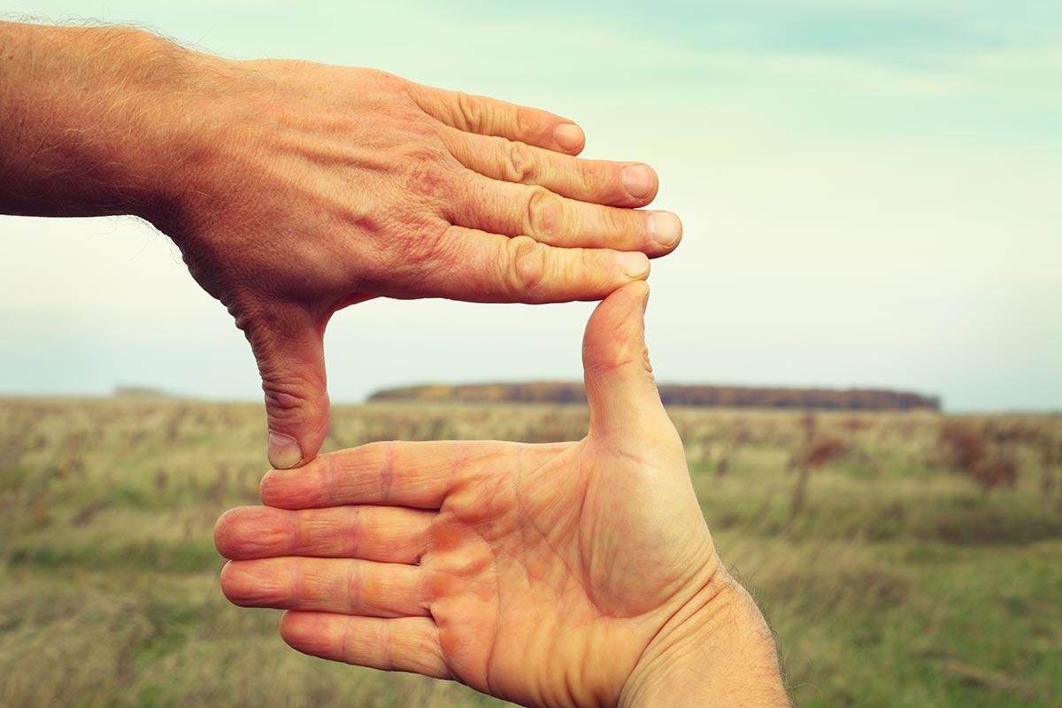 Framing met de handen en vingers