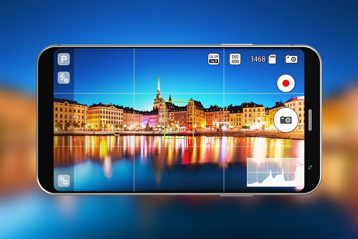 Rasterlijnen kunnen worden ingeschakeld in de instellingen van de camera-app.