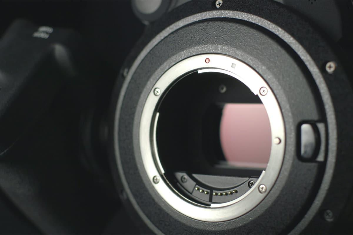 Beeldcensor van een camera in een fotocamera