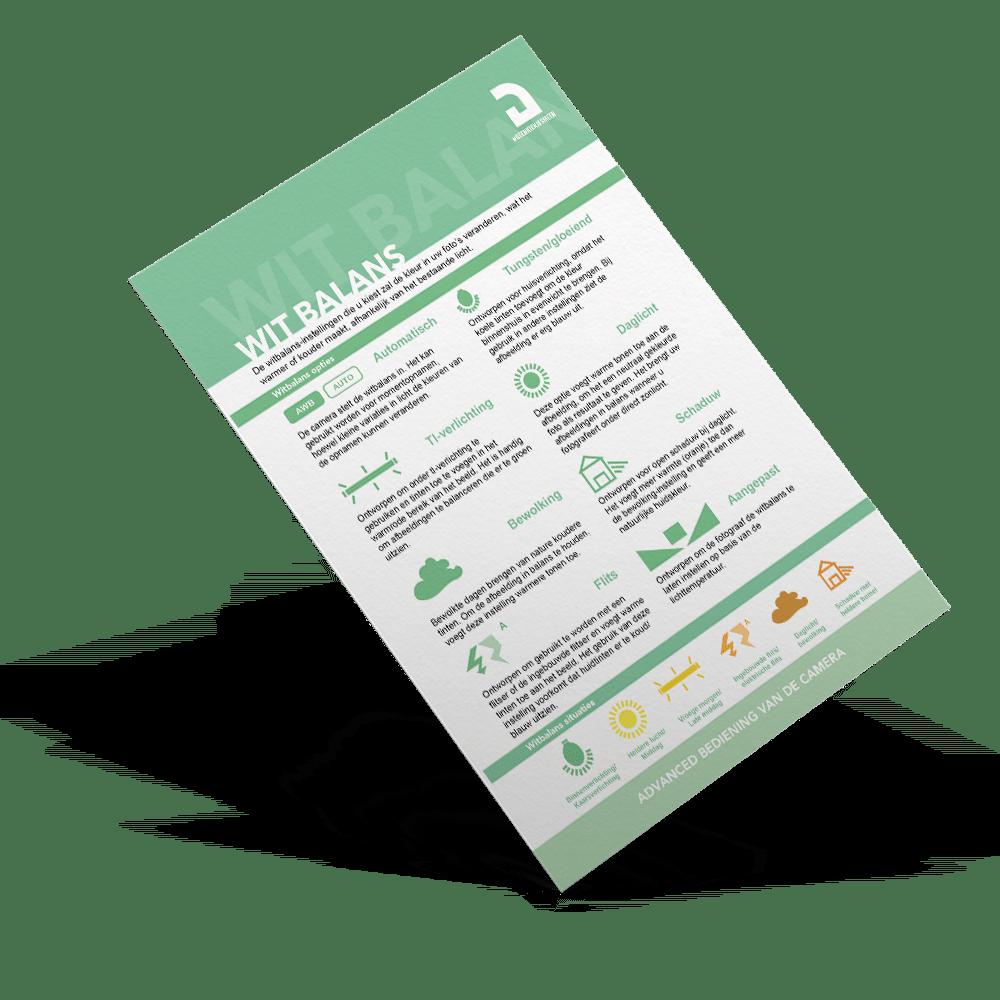 Spiekbriefje witbalans uitleg